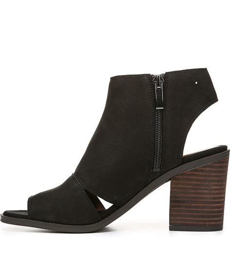 Marrakech Booties lyst franco sarto galaxy morocco leather peep toe cutout detail booties in black