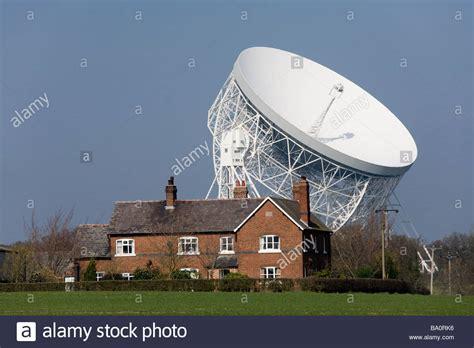 hshire bank a farm house and jodrell bank radio telescope jodrell