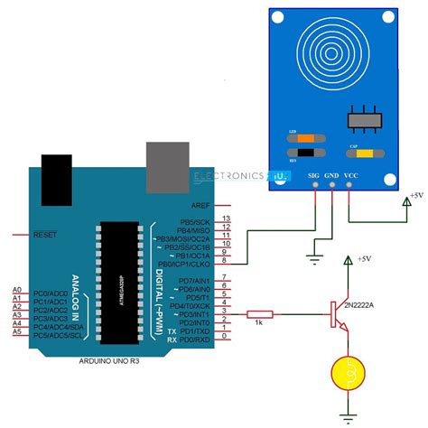 touch dimmer switch circuit using arduino