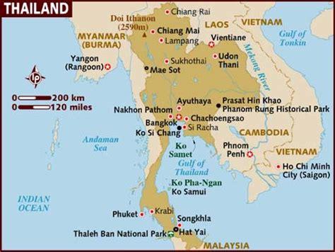 thailand landkaart thailand map plattegrond van
