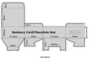 business card box template diecut templates