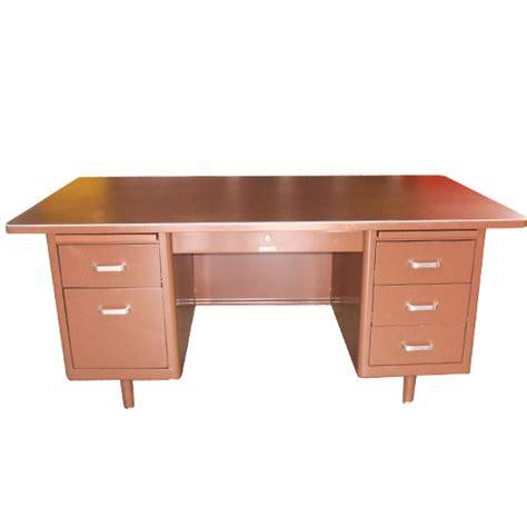 mcdowell craig 69 quot vintage steel tanker desk vintage