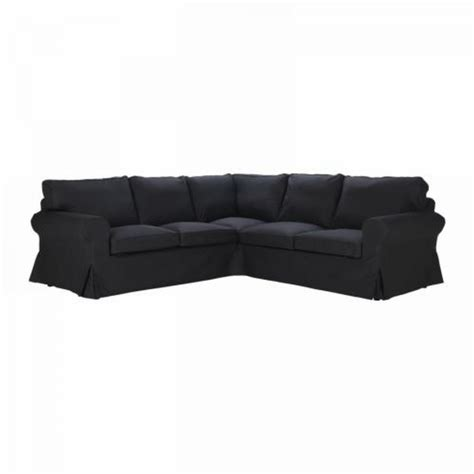 Slipcovered Sofas Ikea by Ikea Ektorp 2 2 Corner Sofa Cover Slipcover Idemo Black 4