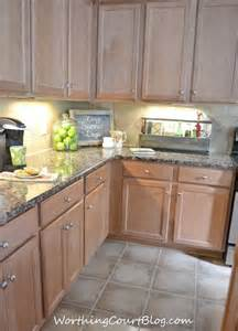 Kitchen with maple cabinets mine are like this great idea for what