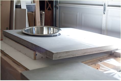 How Much For Concrete Countertops by Diy Concrete Countertops A Kitchen Update Run To Radiance