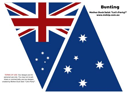 printable bunting flag free printable australia flag bunting from mother duck