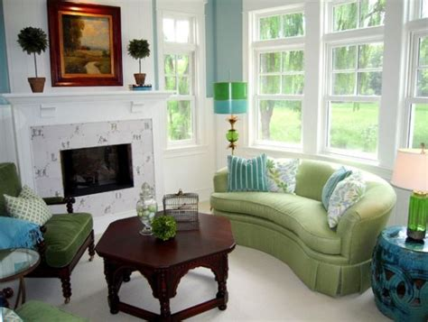 green couch blue walls choose the right sofa color for your living room
