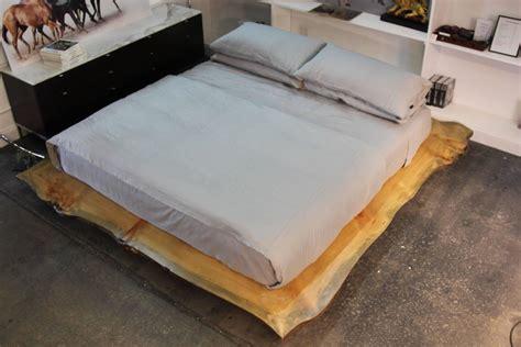 custom platform bed live edge custom platform king bed for sale at 1stdibs