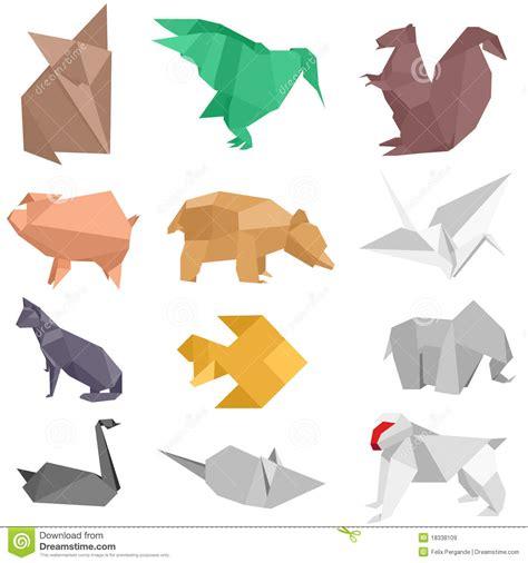 Origami Pets - origami creatures stock vector image of crane