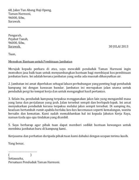 surat rasmi rayuan surat html