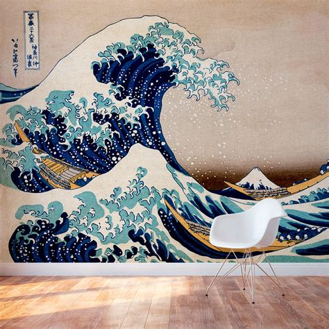 the wall mural great wave wall mural