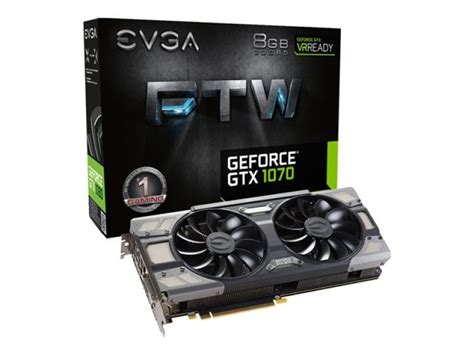 Evga Vga Gtx 1070 8gb Gaming evga geforce gtx 1070 ftw gaming acx 8gb gddr5 dvi d hdmi 3x displayport pci e graphics card