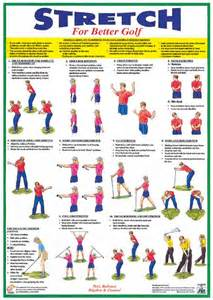 golf exercises and stretches warm up booklet