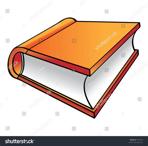 animated picture of a book orange book stock vector 9157762