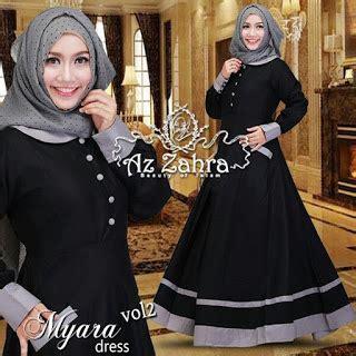 Busana Muslimkerudunghijabjilbab Khimar Syari Landra baju model gamis syar i modern terbaru myara by azzahra