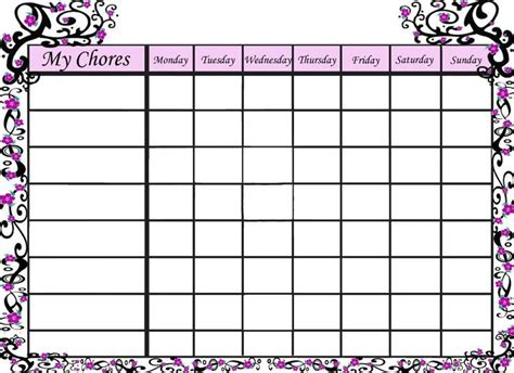children s chore chart template 25 unique chore chart template ideas on