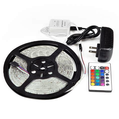 remote control led strip lights 5m waterproof ir remote control strip light led rgb