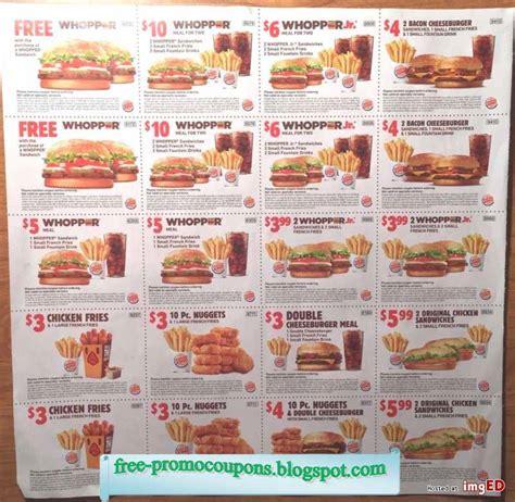 Burger King Printable Coupons 2016