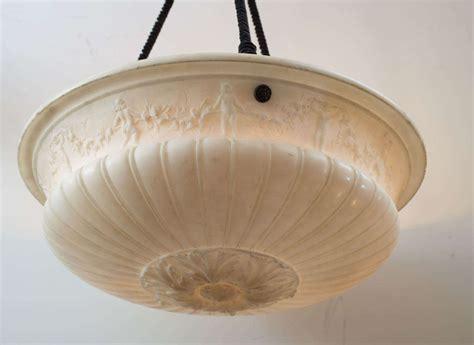 bowl chandelier carved alabaster bowl pendant chandelier at 1stdibs
