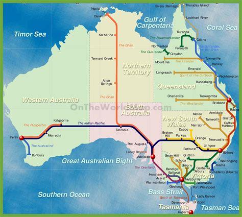 a map of australia railway map of australia
