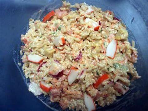 recette de salade de riz au surimi par aurmelie
