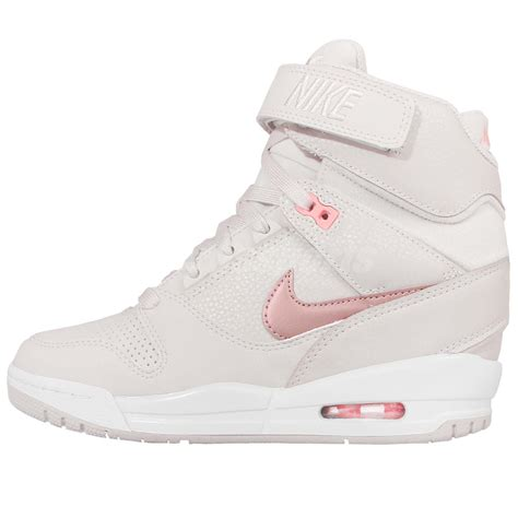 Nike Air Wedges White wmns nike air revolution sky hi grey gold womens wedges