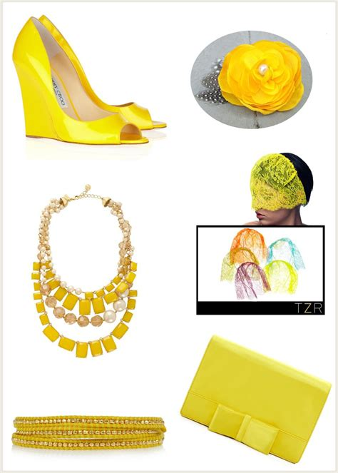 Yellow Wedding Accessories by Yellow Wedding Accessories Bridal Necklace Bracelet