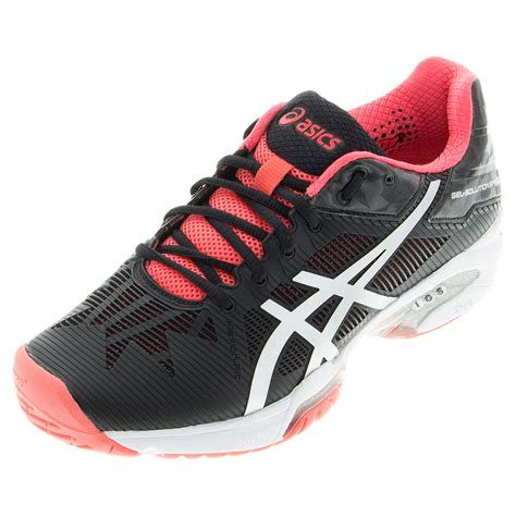 womens black tennis shoes asics s gel solution speed 3 tennis shoes
