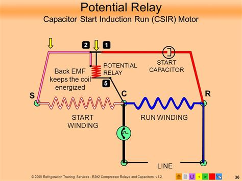 start capacitor relay wiring e2 motors and motor starting ppt