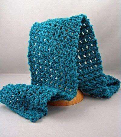 knitting pattern yo four row lace scarf cast on 19 sts row 1 purl row row 2