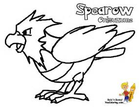 Fearow Colouring Pages Page 2 sketch template