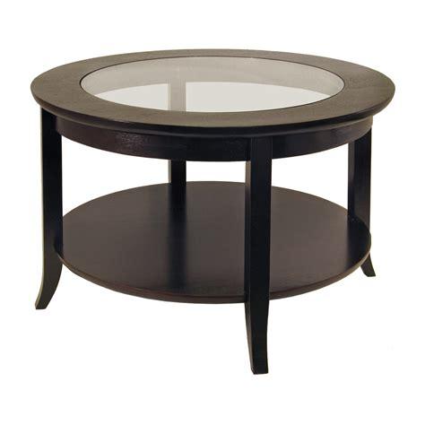 Furniture: Modern Square Dark Wood Coffee Table Clear Glass Legs Dark Espresso Round Coffee