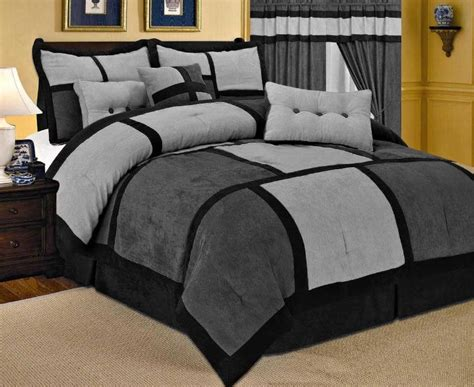 Black Grey Bedding Sets Grey Comforter Sets Size Comforters 187 21 Comforter Curtain Gray Sheet Set