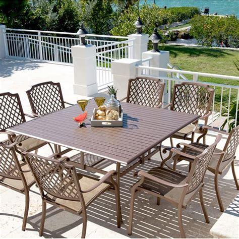 Casual Patio Furniture Sets Island Dining 9 Set