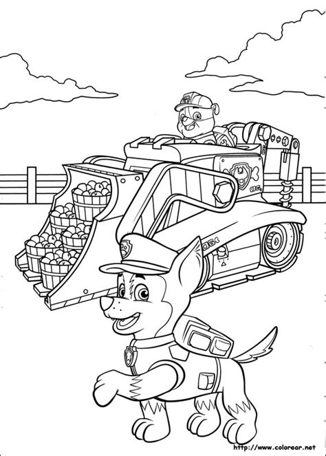 paw patrol thanksgiving coloring page la patrulla canina colouring pages page 3