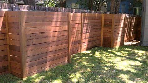 diy horizontal privacy fence