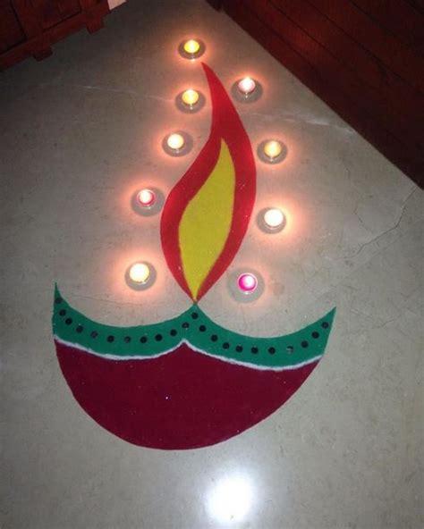 Ugadi Decorations At Home by Easy Rangoli Designs For Diwali Rangoli Designs Diwali