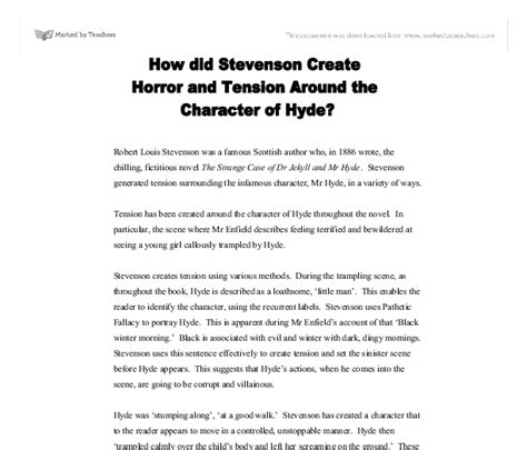 Jekyll And Hyde Essay by Compare Dr Jekyll To Mr Hyde Essay