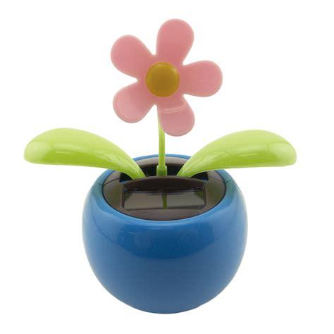 solar toys solar powered flip flap flower pot plant