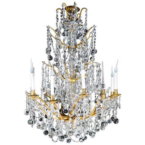 Large Antique French Louis Xvi Style Gilt Bronze And Cut Big Chandeliers For Sale