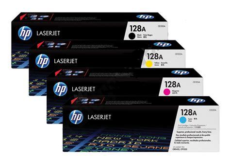 Toner Hp 128a All Colour Ce321a Ce322a Ce323a Original Limited 1 original genuine 4 colour hp 128a toner cartridge multipack ce320a ce321a ce322a ce323a
