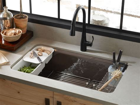 undermount kitchen sink with faucet holes standard plumbing supply product kohler k 5871 5ua3 fp