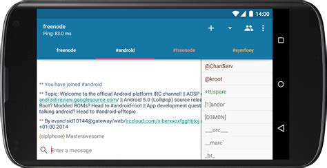 android irc androirc android apps on play