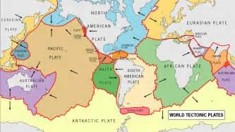 tectonic map of america tsunami tectonics