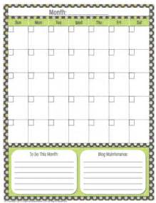 generic monthly calendar template organized planner free printable generic calendar