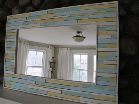 cottage style bathroom mirrors custom cottage mirror beach style new york by