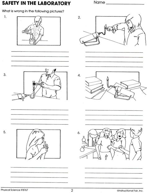 lab safety worksheet lee keller science activities
