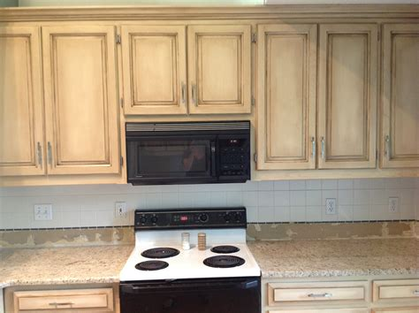 Faux Painted Kitchen Cabinets by White Kitchen Cabinets Photos
