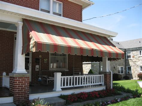 fabric awnings for home porch awnings kreider s canvas service inc
