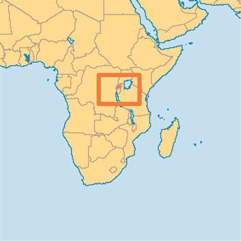 rwanda map rwanda operation world